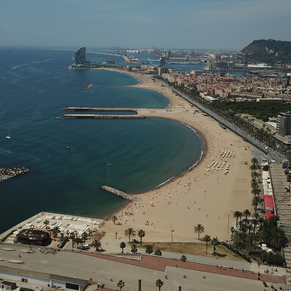 A beach in Barcelona