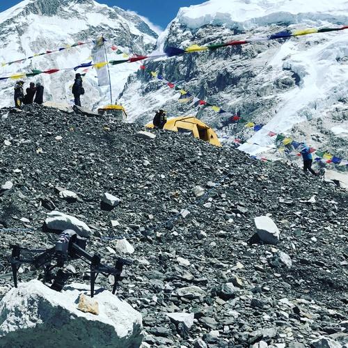Flying Inspire 2 on Everest