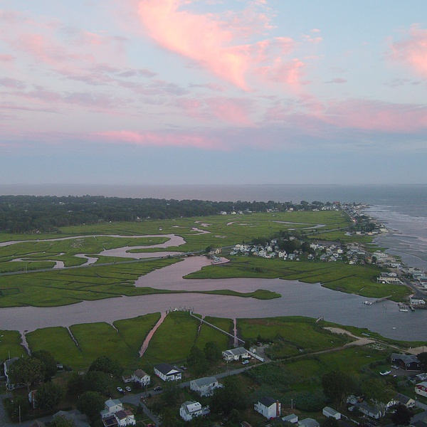Old Saybrook CT 's beautiful wetlands at dusk