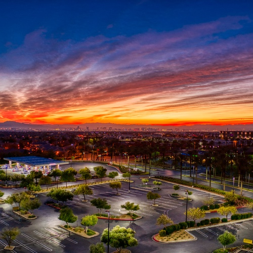 Sunrise at COSTCO parking lot