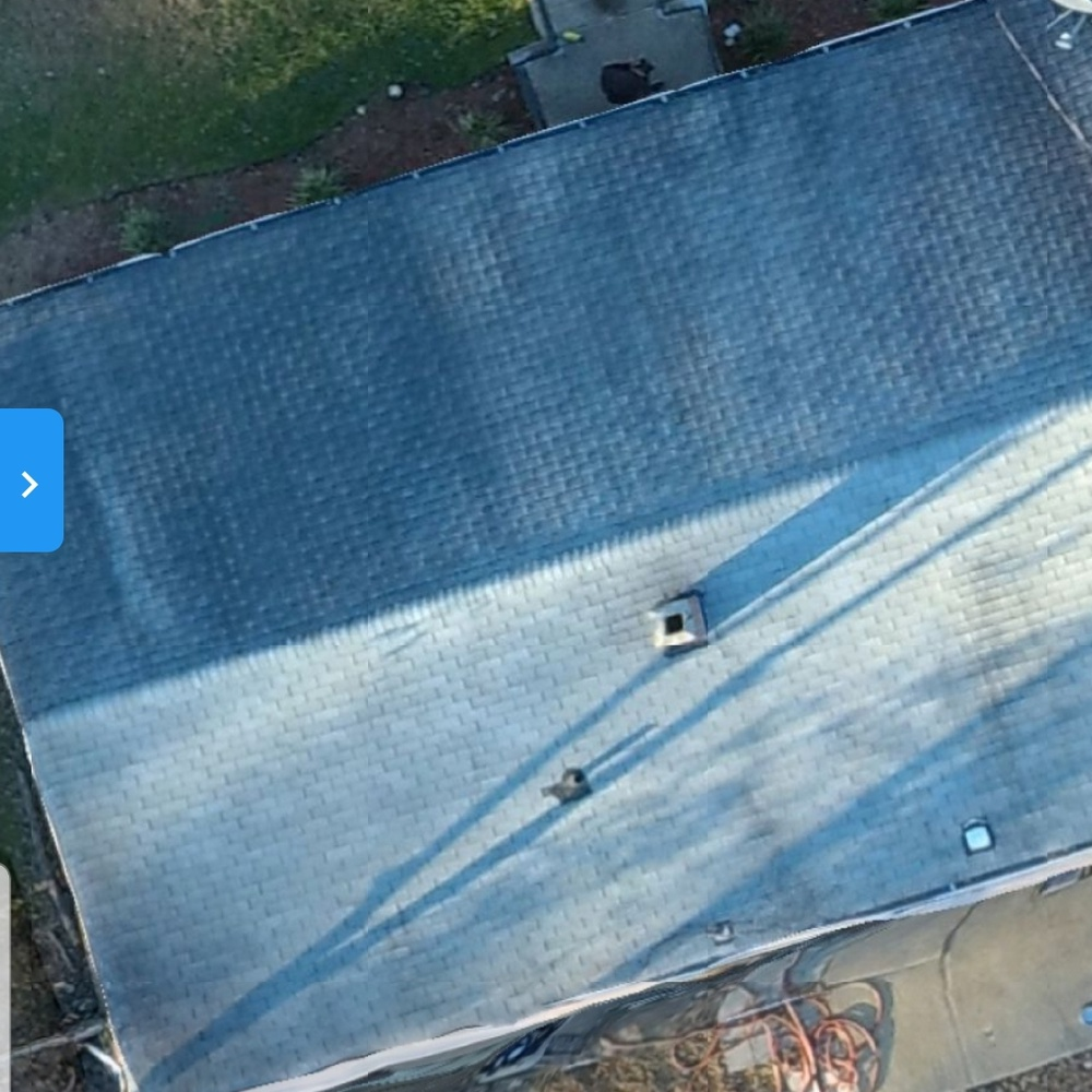 Residential roof inspection photo