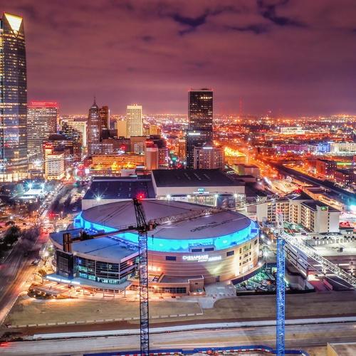 Downtown Oklahoma City at night