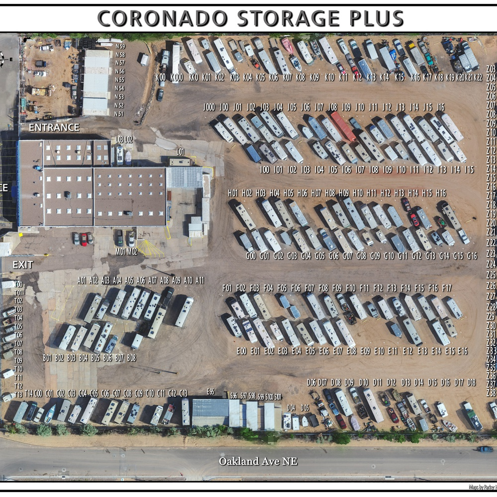 Orthophoto Map - Coronado Storage