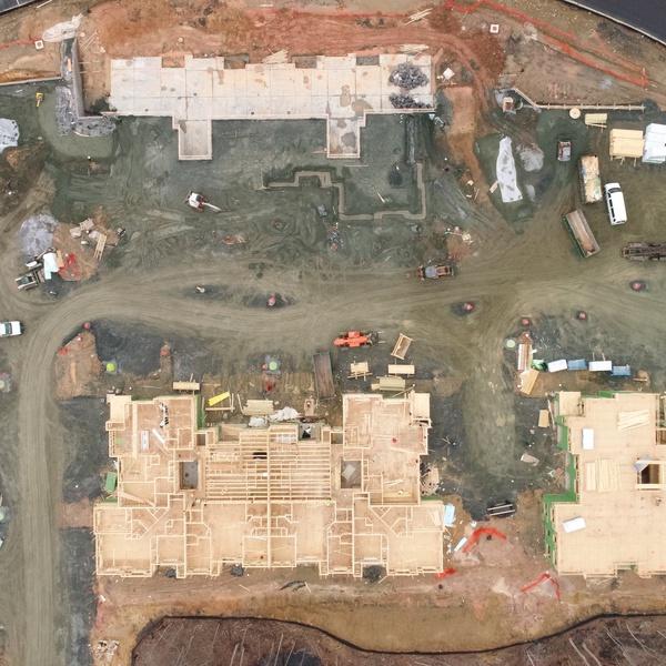 Construction Progress Example - Apartment Building - Overhead