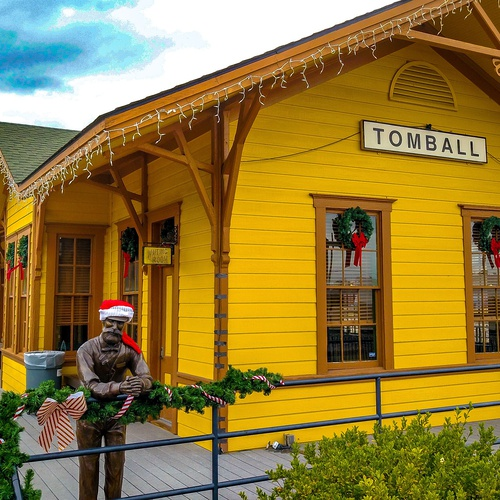 Winter time at the Tomball train depot