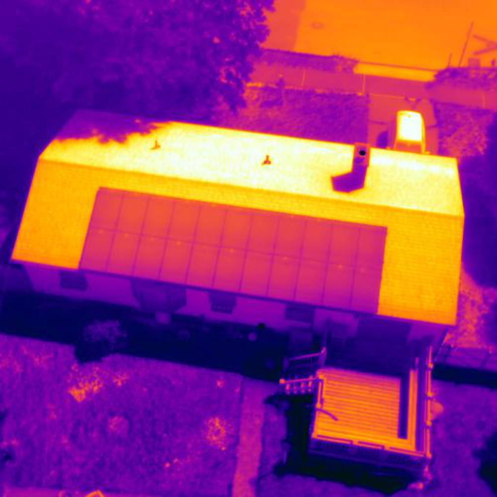 Thermal Inspection of Residential Solar array