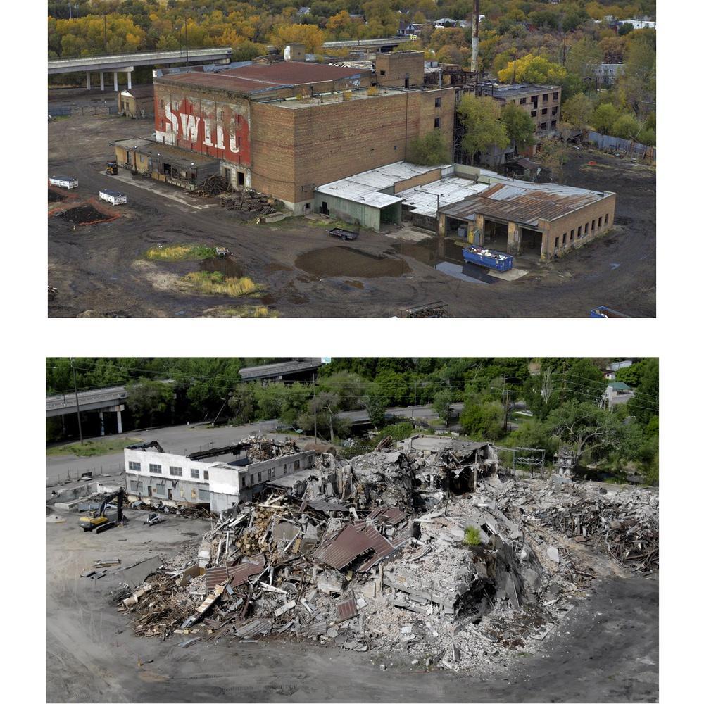 Smith and Edwards Warehouse Demolition, Ogden UT