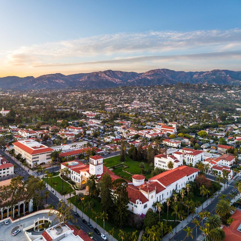 The Santa Barbara Courthouse Sunset