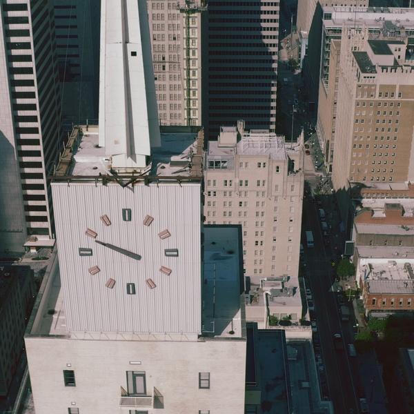 Drone still shot of Downtown Dallas