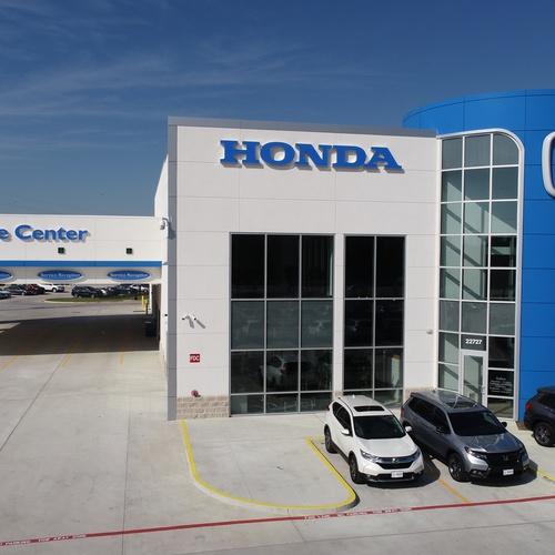 Honda Dealer Front Of Building