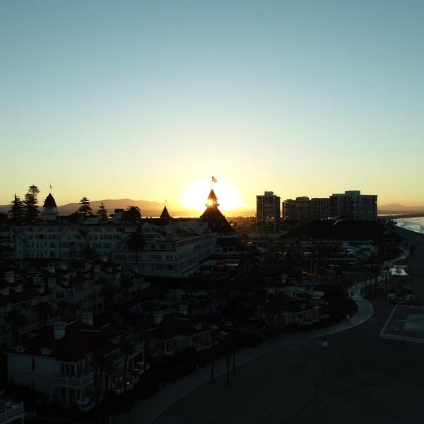 Sunrise over The Hotel Del Coronado