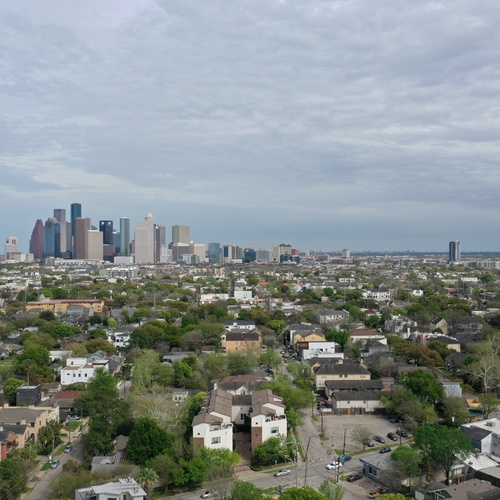 Downtown Houston, viewed from the River Oaks District