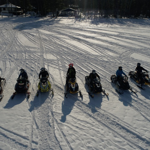 Snowmobile Drag Race!