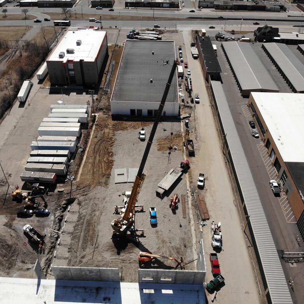 Crane lift - Precast concrete panels