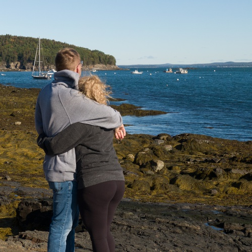 Couple Overlooking Bar Harbor