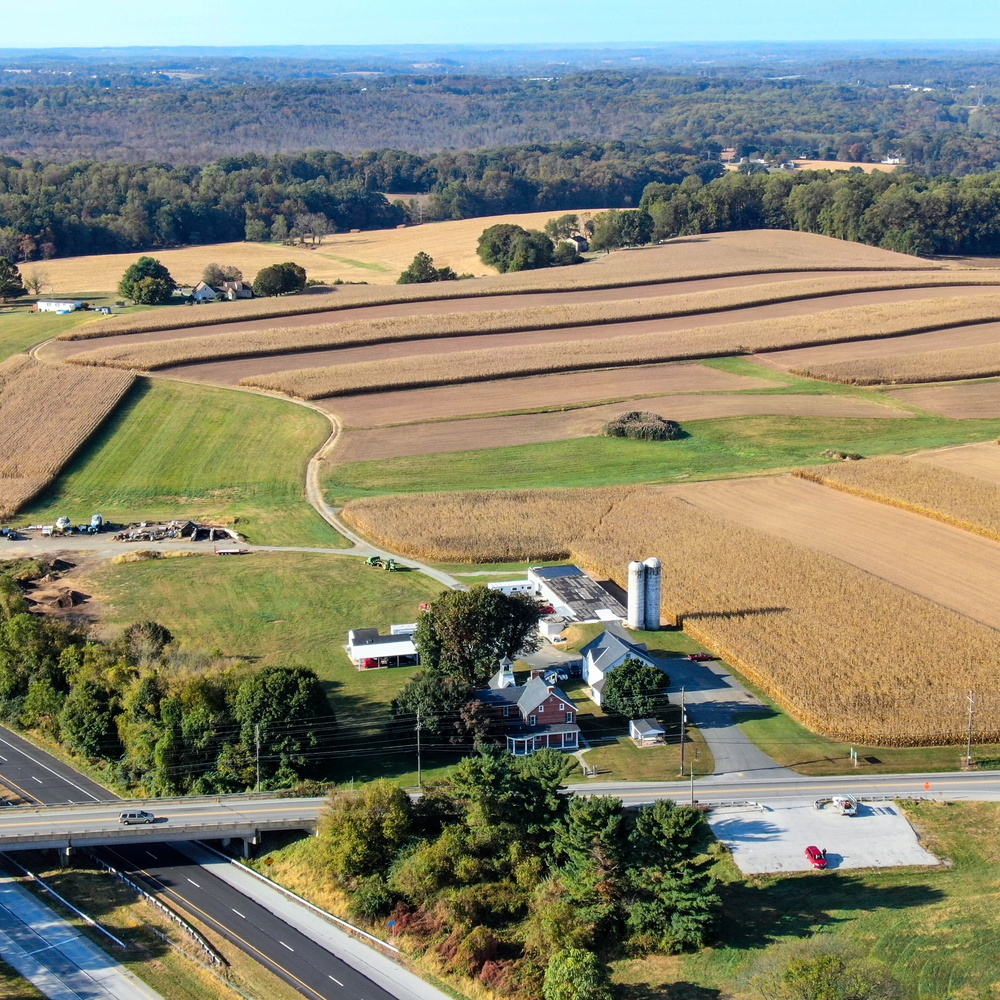 Aerial of a Farm