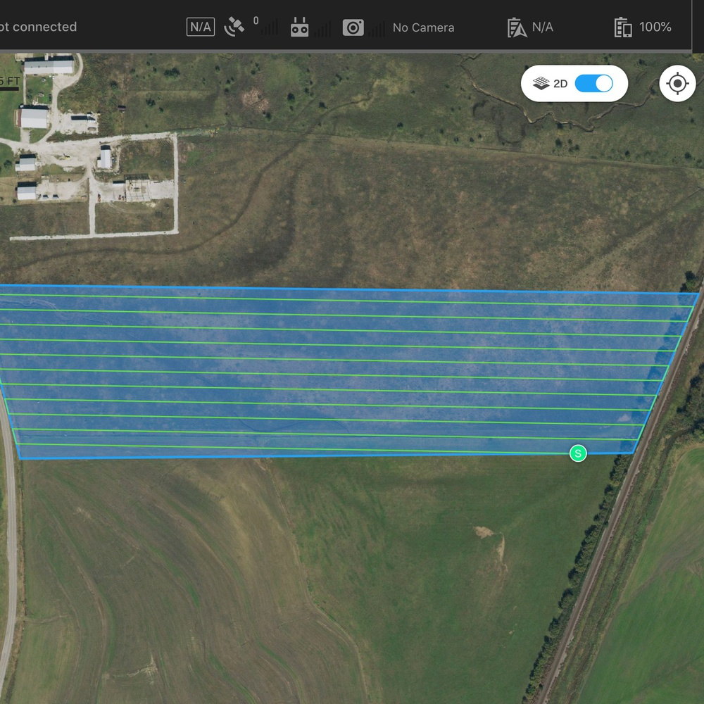 Acreage mapping layout for 3D imaging