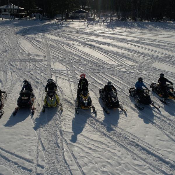 Snowmobile Drag Race!