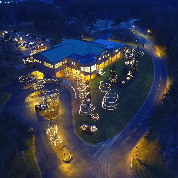 Christmas lights at Enercon Technologies