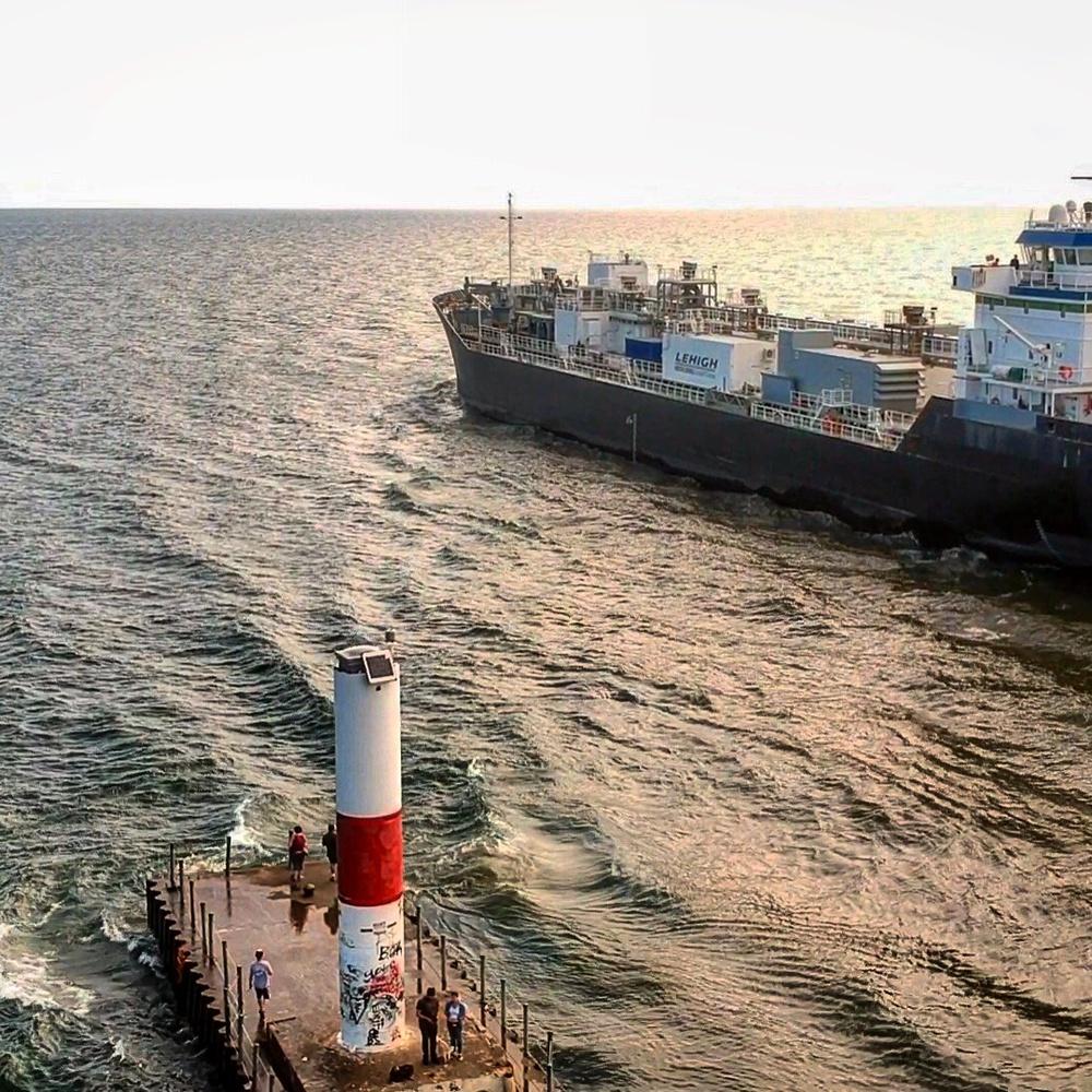 Cargo Ship entering Lake Ontario