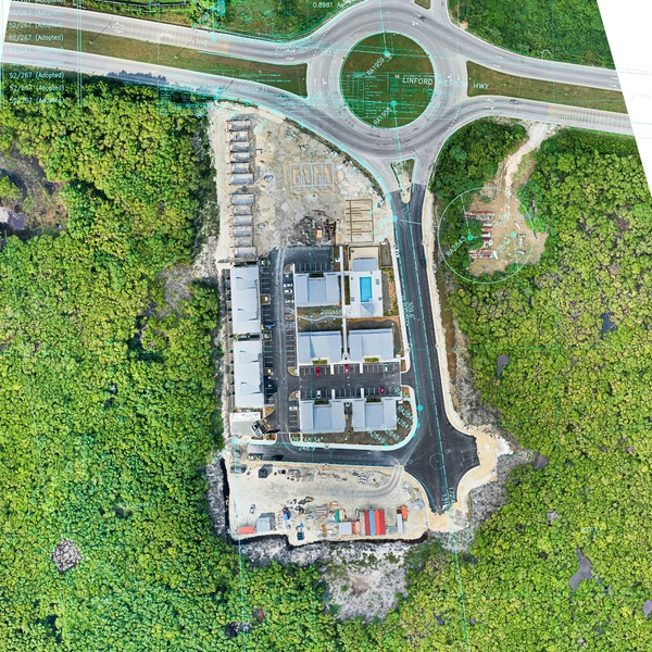 Aerial Survey with Plan Overlay