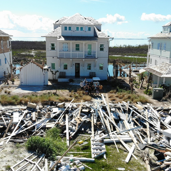 Debris field after hurricane Dorian