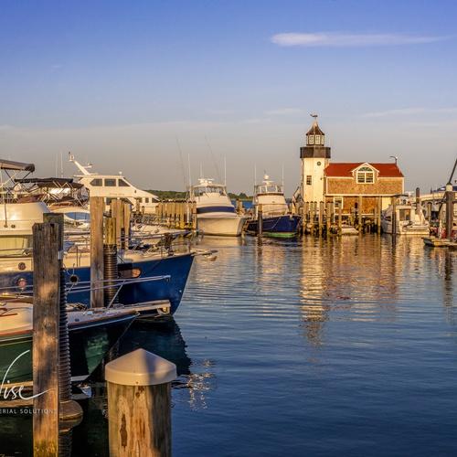 Marina Sunset Image at Year-Round Waterside Resort in Old Saybrook