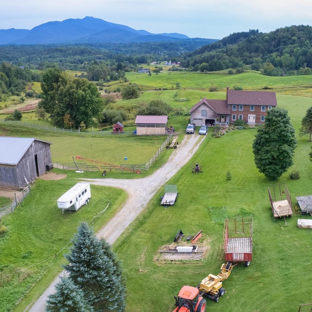 Cambridge Vermont Real Estate Drone Photo