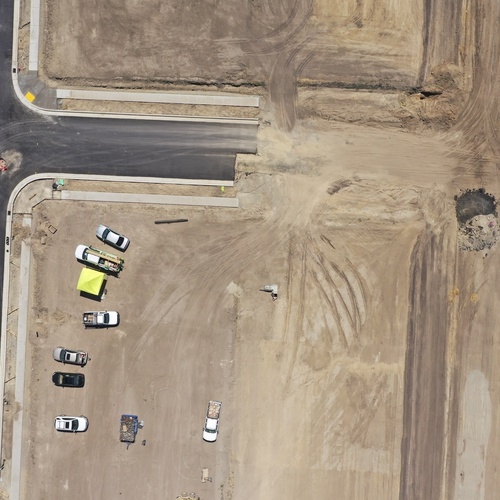 Construction site aerial for orthomosaic  mapping