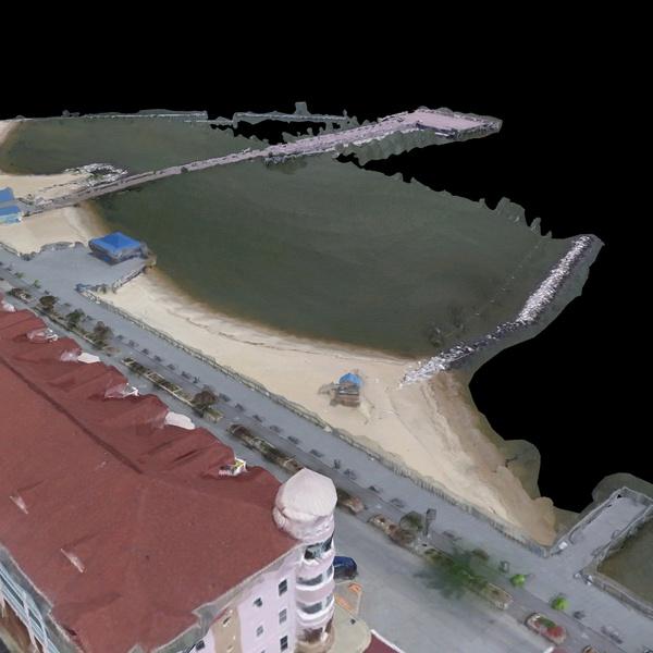 3D Modeling North Beach MD Bay Street & Public Pier