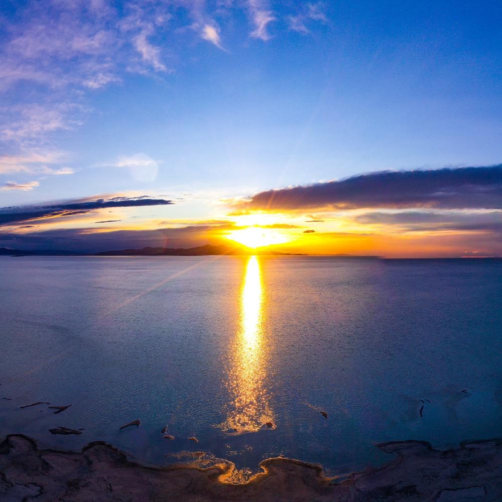 The Great Salt Lake @ Sunset Pano