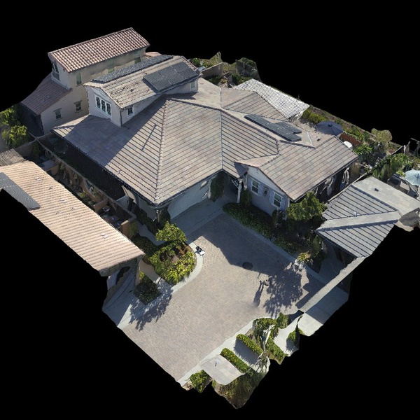 Roof Solar Survey for client home using Drone Deploy to generate 3D model