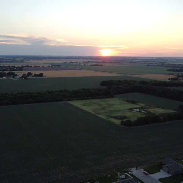 Sunset over the plains