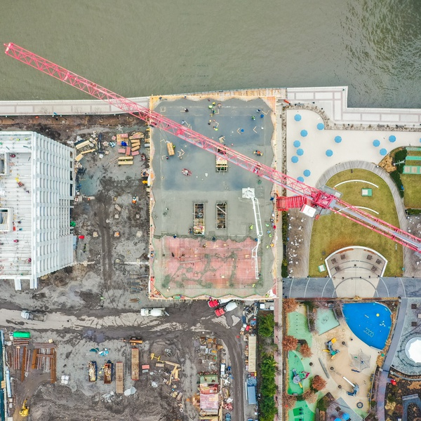 High-rise Construction, Overhead view