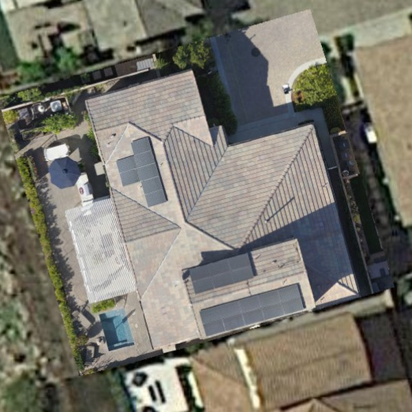 Roof Solar Survey for client home using Drone Deploy to generate dimensionally-accurate 2D map