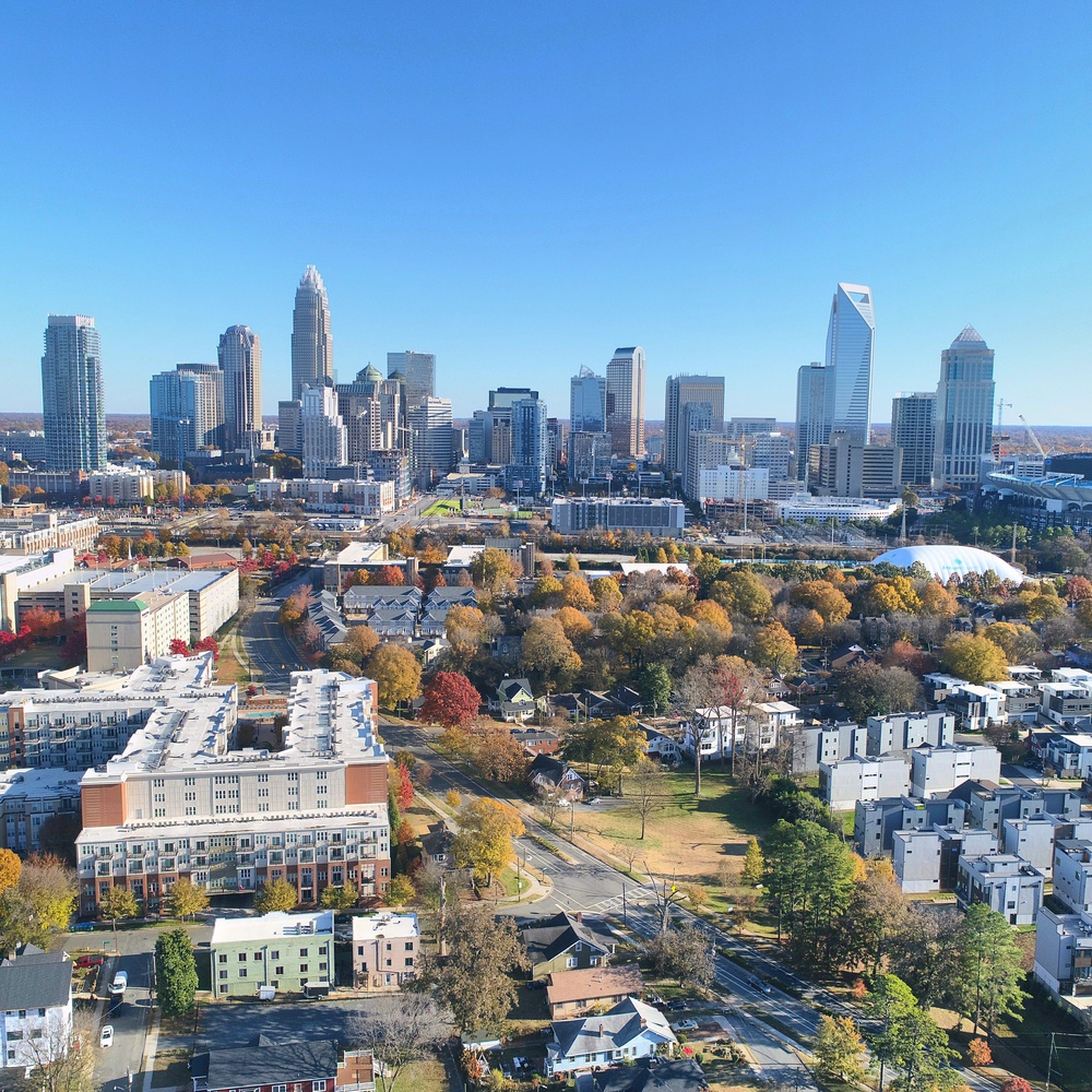 HDR shot of uptown Charlotte