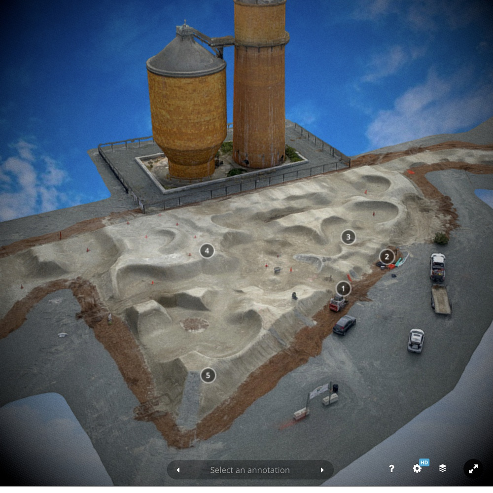 3D model of Shire Built dirt track installed at the Port of Bellingham
