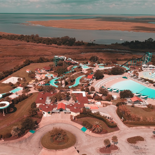 Empty Waterpark - Jekyll Island, GA
