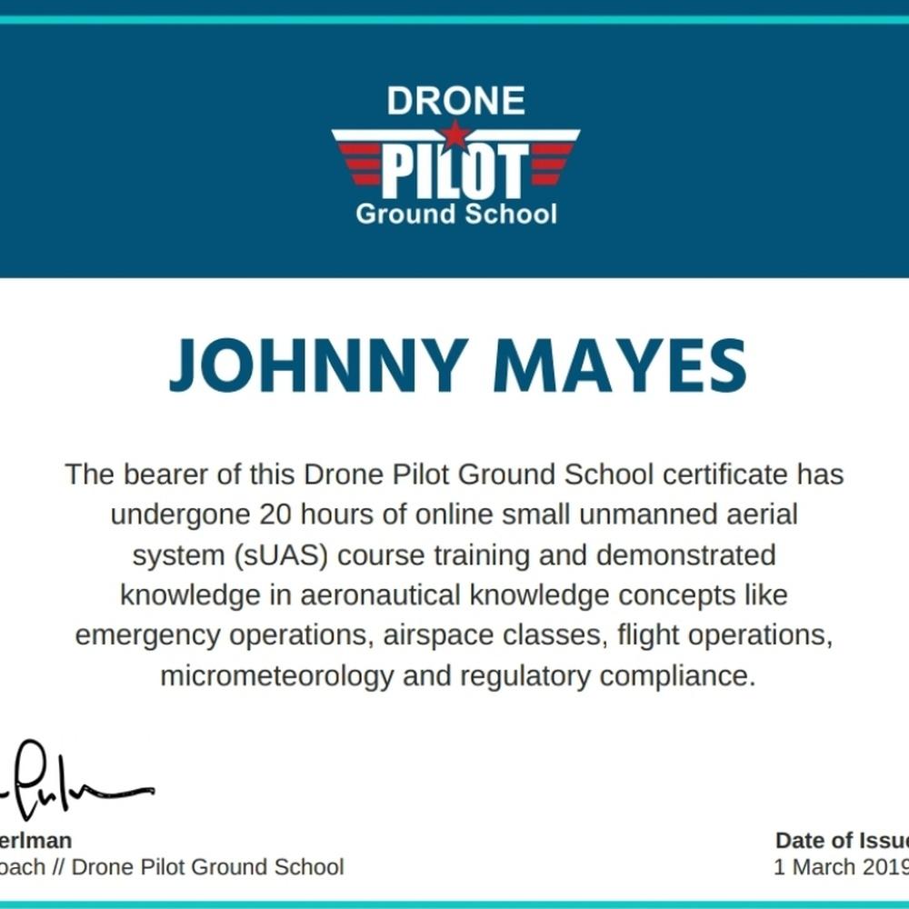 UAV Coach Cert.