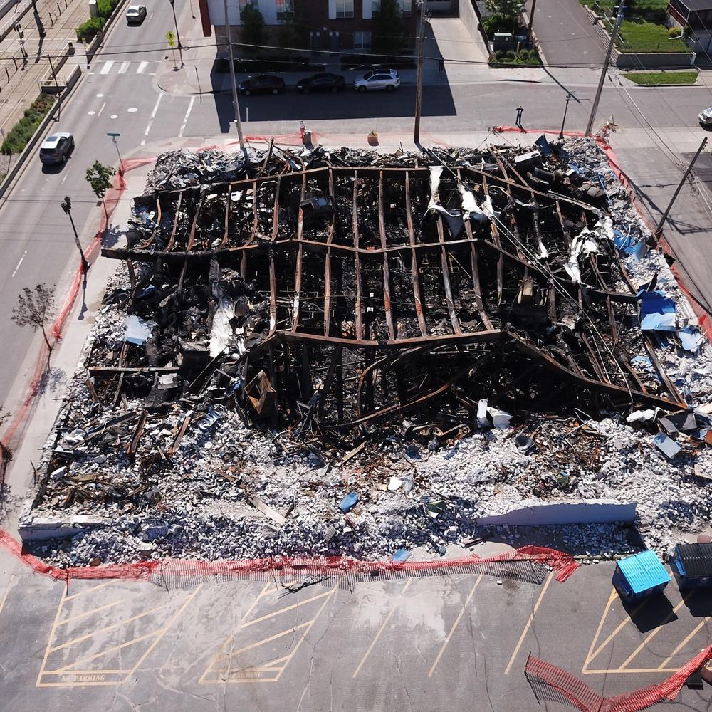 Riot destruction-auto parts store