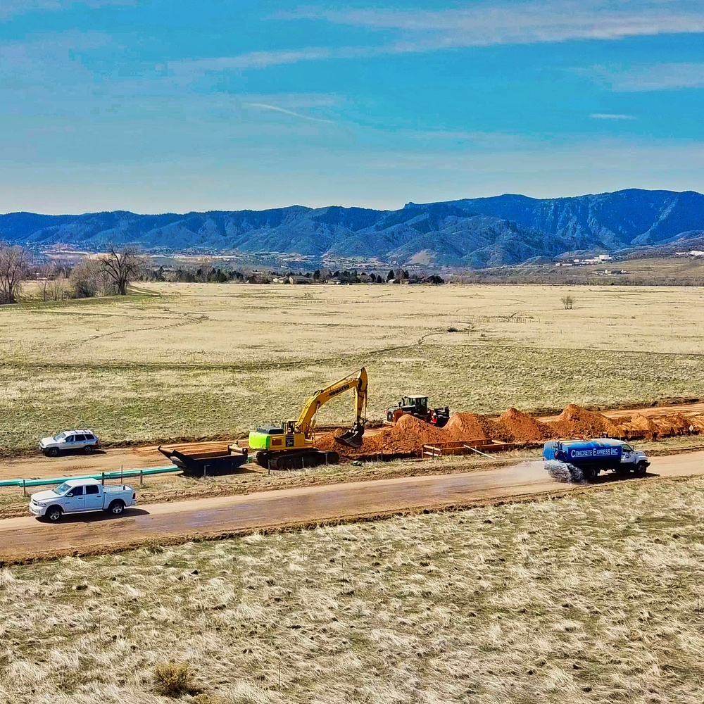 Aerial Panorama of Construction Work Underway