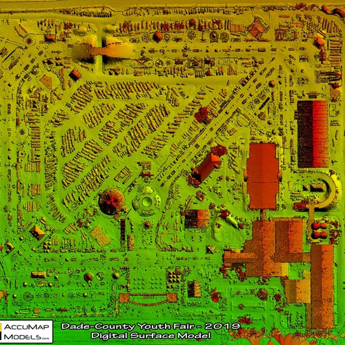 Digital Surface Model of fair grounds