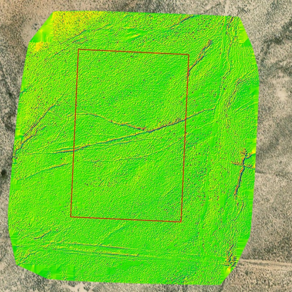 Color Ramped Hillshade for Site Selection