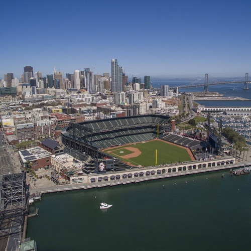 Oracle Park from above used for SF Giants Enterprises Coffee Table ...