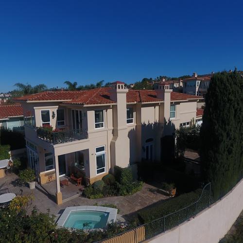 Real Estate Low Aerial View