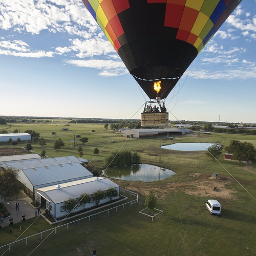 Hot air balloon marketing image