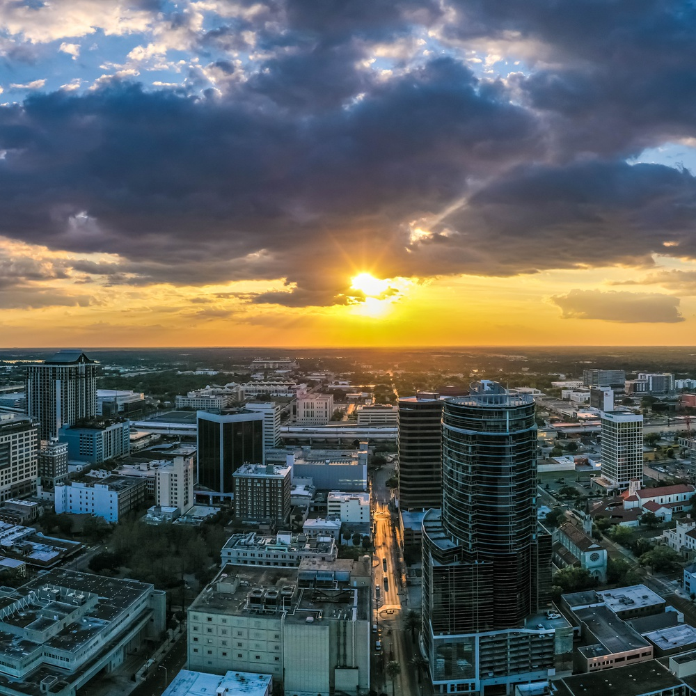 Downtown Orlando Pano