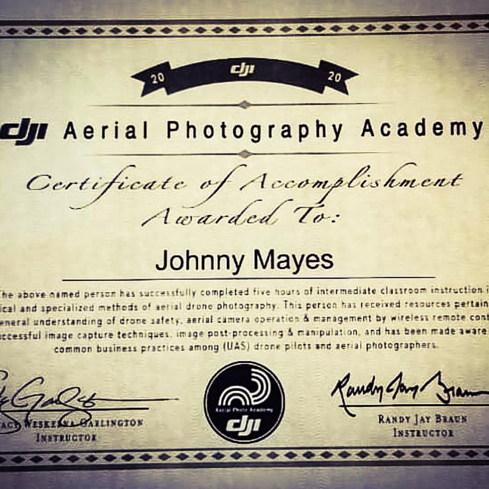 DJI Photo Academy Cert.