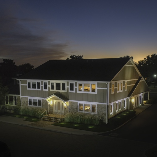 Architectural Firm Twilight Aerial Photo