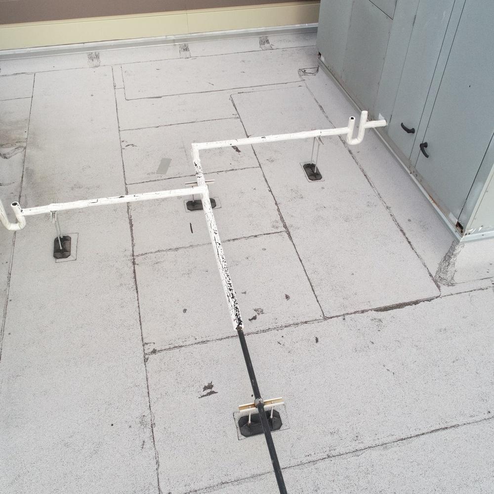 On roof a/c units